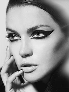 Gorgeous use of black eyeliner in these shots by photographer Susi Belianska.