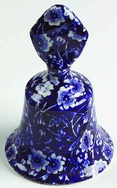 Staffordshire CALICO-BLUE (CROWNFORD STAMP) Bell 4575676 #Staffordshire