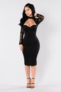 The Case of Lace Dress - Black
