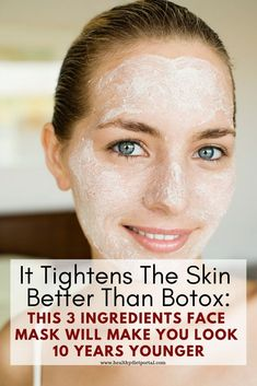It tightens the skin better than Botox: This facial mask makes you look 10 years younger Beauty Care, Beauty Skin, Health And Beauty, Beauty Hacks, Diy Beauty, Star Beauty, Beauty Ideas, Face Beauty, Homemade Beauty