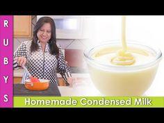 Homemade Condensed Milk Recipe Without Milk Powder in Urdu Hindi - RKK Homemade Sweetened Condensed Milk, Condensed Milk Recipes, Recipe Without Milk, Milk Powder Recipe, Mango Ice Cream, Sandwich Cake, Thing 1, Sweet Sauce, Powdered Milk