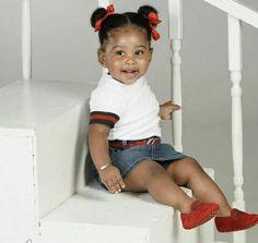 Pinterest: @kitty_slim☔ Cute Little Girls, Cute Baby Girl, Cute Kids, Cute Babies, Little Girl Fashion, Toddler Fashion, Kids Fashion, Beautiful Black Babies, Beautiful Children