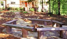 Another cool log bench idea for your fire pit