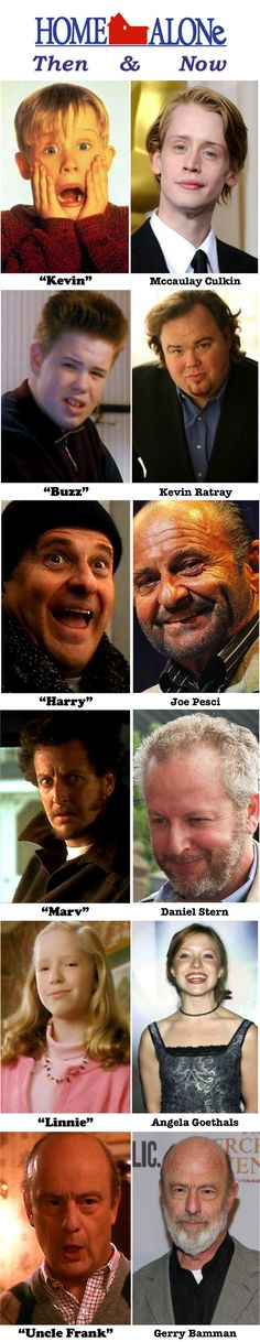 Home Alone Then & Now.... Marv looks pretty normal...