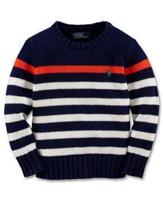 Ralph Lauren Kids Sweater, Little Boys Striped Crew Neck Sweater , Kids Boys  2,
