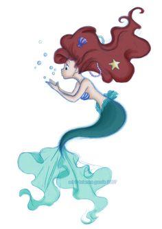 -Ariel -Queen of Kawaii Summer Ariel Mermaid, Ariel The Little Mermaid, Mermaid Art, Mermaid Disney, Disney Films, Disney And Dreamworks, Disney Pixar, Disney Princess Art, Disney Fan Art