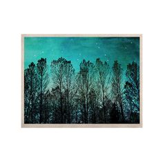 """Sylvia Cook """"Dark Forest"""" Blue Trees KESS Naturals Canvas (Frame not Included)"""