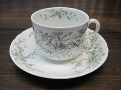 ANTIQUE ALFRED MEAKIN SPRAY CUP AND SAUCER #AlfredMeakin Alfred Meakin, Cup And Saucer, Tea Cups, Antiques, Tableware, Floral, Antiquities, Antique, Dinnerware