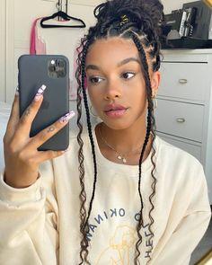 Baddie Hairstyles, Box Braids Hairstyles, Girl Hairstyles, Hairstyles For Summer, Hairstyle Braid, Braided Hairstyles For Black Women, Braids For Black Hair, Braids With Curls, Black Girl Braids