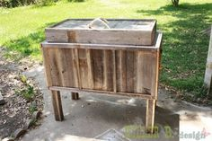 """Rustic """"Cowboy Cooler"""" made from furring strips and reclaimed fencing. We are definitely doing this for our patio. gonna put a bottle opener on it too."""