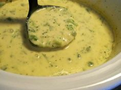 Broccoli Cheese Soup for the Crock Pot