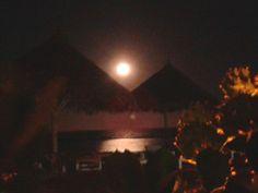 Full moon night. A view from Kola Beach Resort. Kenya