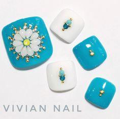 Pretty toe nail art idea #nails #unas #nailart