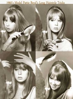 Patti Boyd's 1960s Hairstyle tricks for long hair.