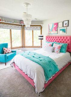 Bright Teen Girl's Bedroom