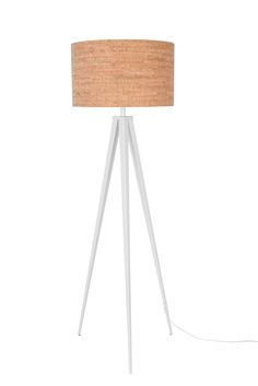 Tripod Cork floor lamp - White #Lighting	#Luminaire #Beleuchtung	#verlichting