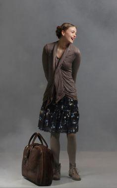 Codal (skirt) - Jalil (top) - Hampton (cardigan) - Zumba (tights) ::Mais il est où le Soleil? LADIES LIKE MIDNIGHT Winter 13::