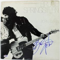 Bruce Springsteen Born To Run Signed Album Cover W/ Vinyl Psa/dna #q02223 - Autographed CD's $1,255.98