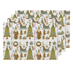 Lamona Cloth Placemats featuring Happy Holidays by floramoon_designs   Roostery…