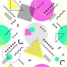 90s Pattern, Pattern Paper, Pattern Design, Vector Pattern, Geometric Background, Background Patterns, Geometric Shapes, Memphis Art, Memphis Design