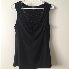 Kenneth Cole reaction top Ladies Kenneth Cole reaction sleeveless blouse with attached necklace. Like new Kenneth Cole Reaction Tops Blouses