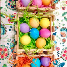In love with these adorable wooden baskets that I found at @target today! #easter #istilllovecoloringeggs #childhood #memories