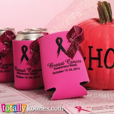 Breast Cancer Awareness month is right around the corner and we have the perfect koozies for any event or fundraiser to help make your event a success!  We offer customizable #koozies for ANY occasion!