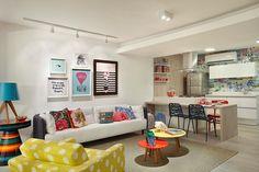 Pequeno apartamento para ela: feminino, atual e integrado - Casinha Arrumada