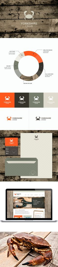 Yorkshire Crab color pallet and #stationery design