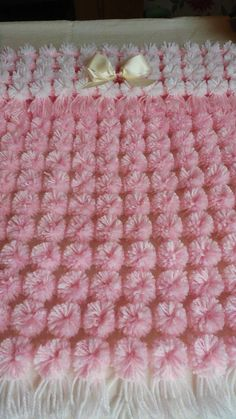 Soft, squishy and warm. Many colours available. Perfect fit for Crib, moses basket, pram or pushchair. Baby Afghan Crochet, Baby Girl Crochet, Yarn Colors, Colours, Pom Pom Baby, Crochet Monkey, Diy Crafts Crochet, Handmade Baby, Crochet Patterns