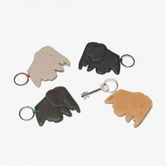 The Elephant Keyrings designed by Hella Jongerius for Vitra take inspiration from the iconic Vitra Elephant sculpture designed by Charles & Ray Eames in the 1940s