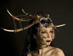 Tribal mask and jewelry- looks like a D3 Witch Doctor!
