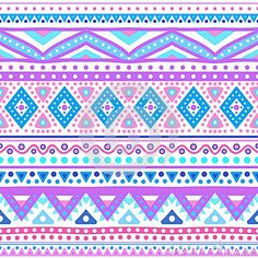 Tribal ethnic seamless stripe pattern. Vector