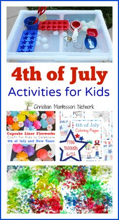 4th of July Activities for Kids via Christian Montessori Network
