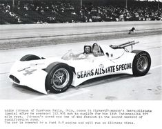 Dave MacDonald runs Mickey Thompson's Ford powered 83 car in the 1964 Indy 500 Indy Car Racing, Indy Cars, F1 Lewis Hamilton, Cuyahoga Falls, Old Race Cars, Vintage Race Car, Car Ins, Professor, Dream Cars