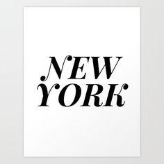 New York Art Print by b&w type - X-Small Quote Wall, Wall Art Quotes, New York Art, Black And White Aesthetic, Minimalism, Typography, Positivity, Inspirational, Art Prints