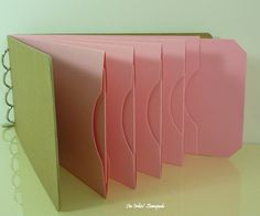 Chipboard AlbumKraft and Pink Pocket Tag by aninkinstampede, $5.00