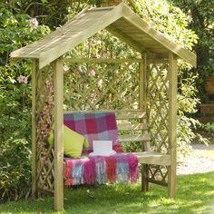 Forest Garden Sienna Garden Arbour Seat | Internet Gardener