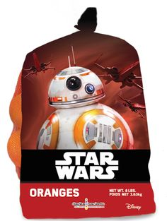 Star Wars oranges are an out-of-this-world healthy snack from Disney for the kids.