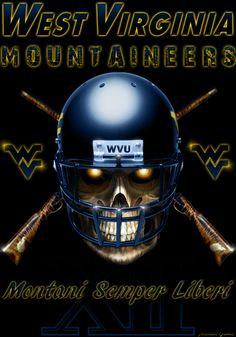 WVU Football Skull update 2013 photoshop