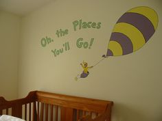 Dr Seuss Nursery Mural   Baby room <3