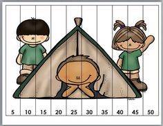 Camping Theme Counting Puzzles