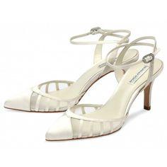 Penelope by Benjamin Adams Designer Ivory Vintage Wedding or Occasion Shoes - SALE
