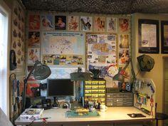 A man's hobby room