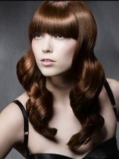 Long hair style with bangs
