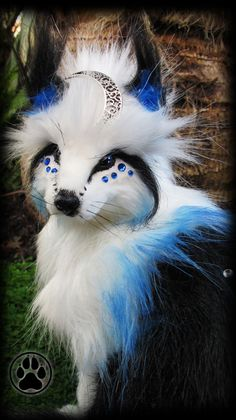Nadir the celestial fox poseable art doll OOAK. by CreaturesofNat, $270.00