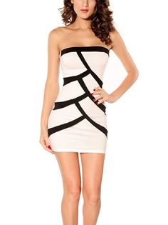 Sexy Women Short Strapless Dress (White) I and love and you http   76a809d017be