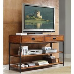 Home Styles Modern Craftsman Distressed Oak TV Stand | Overstock.com Shopping - The Best Deals on Entertainment Centers