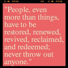"""""""...never throw out anyone."""" #potsc"""