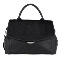 Abro Tasche – Lamb Leather Frog Washed Handle Bag_ Black – in schwarz – Henkeltasche für Damen